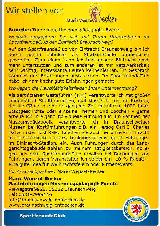 Newsletter des Eintracht-SportfreundeClub vom 31.08.2017