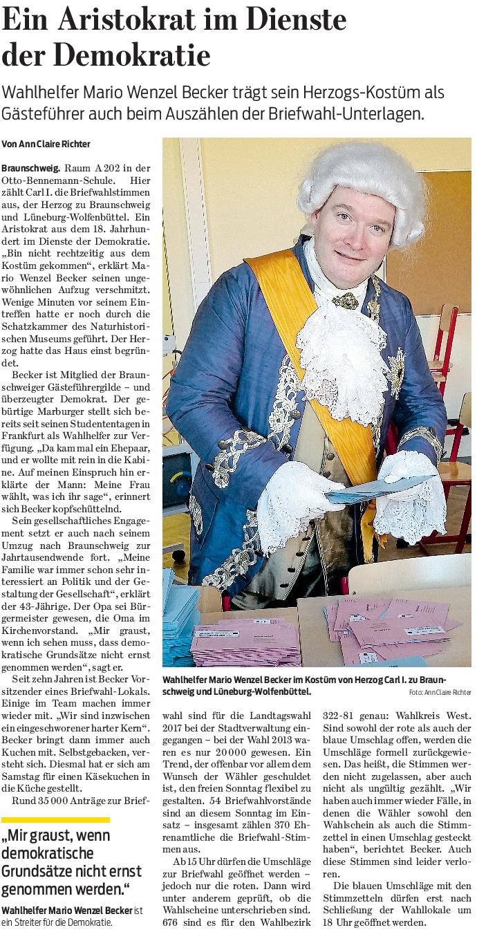 Braunschweiger Zeitung vom 16.10.2017